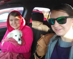 Taking Raina to the vet