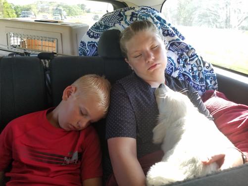 Alisa, Josiah, and Morocco on the way home