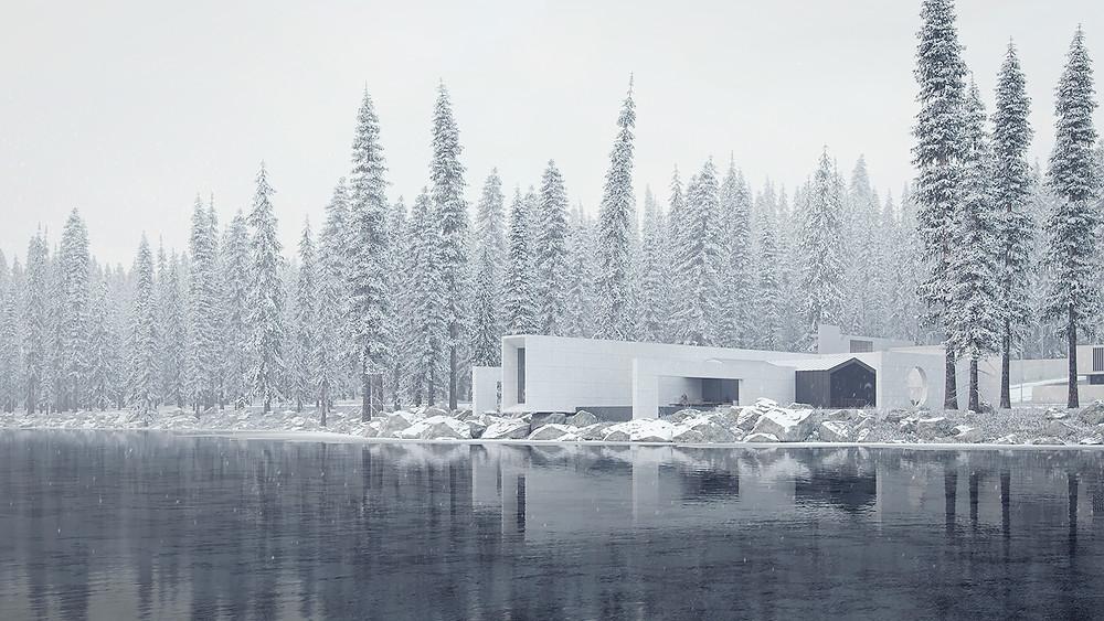 lakeside luxurious residence Design