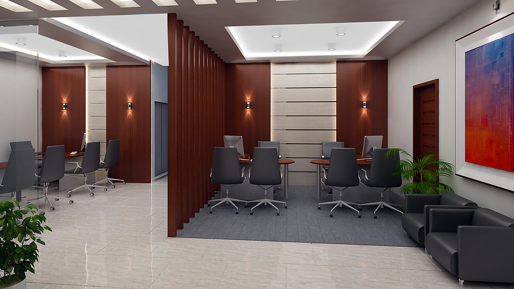 Executive work area with visitor facilites