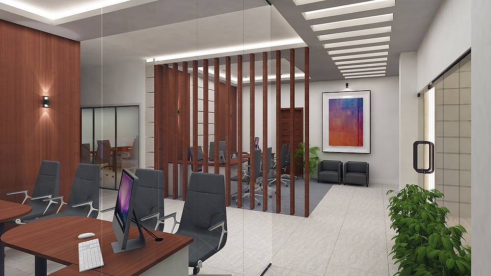 Executive work area with visitor facilities