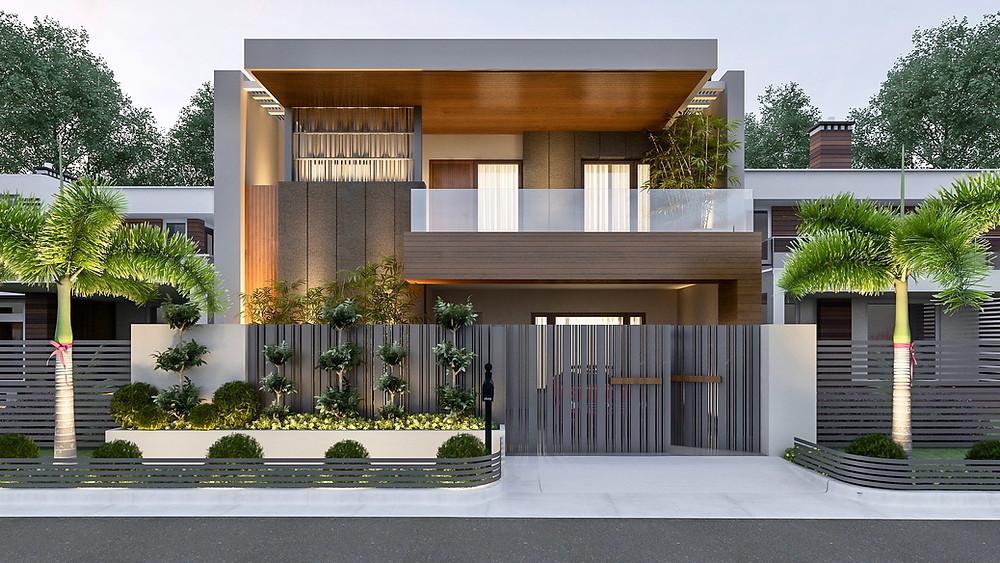 Modern luxurious Duplex  in a tight site