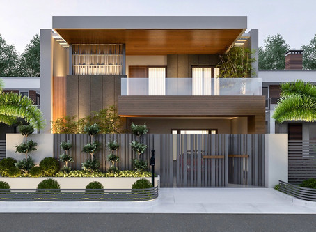 Modern Luxurious Duplex : Tight Site