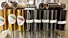 nastro nastri ribbon ribbons nero colorato oro trasferimento termico cera resina near edge