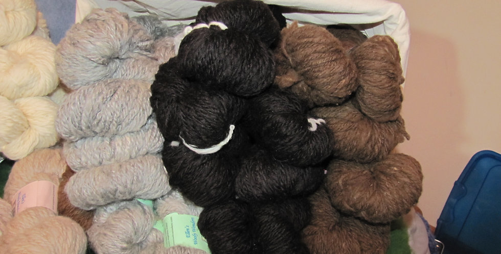 Naturally Colored Bulky weight triple ply wool yarns