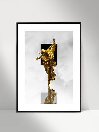 vertical - courage - affiche encadree -