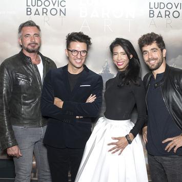 Olivier Minne, Ludovic Baron, Vanessa Modely et Agustin Gualiana