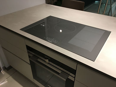 corian worktop with hob cut-out kitchen worktops