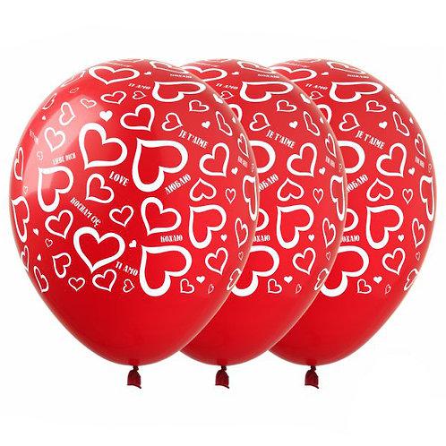 "Гелиевые шары ""Сердечки"""