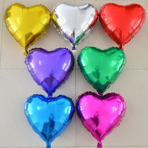 """Фольгированные шары """"Сердце без рисунка"""" 18"""" дюймов"""