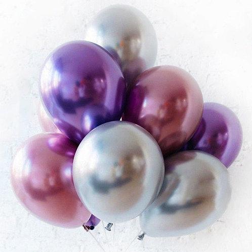Гелиевые шары Хром, По цвету