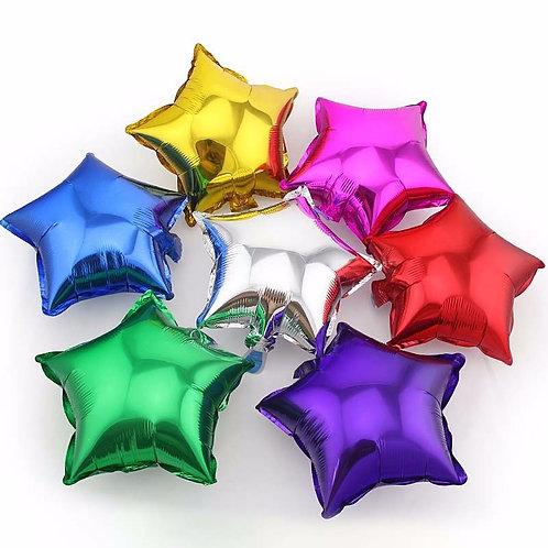 """Фольгированные шары """"Звёзды без рисунка""""» 18"""" дюйм"""