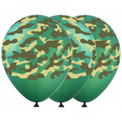 """Гелиевые шары """"Камуфляж"""""""