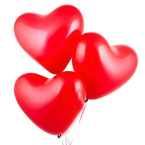 """Гелиевый шар Сердце, 10"""" дюймов"""