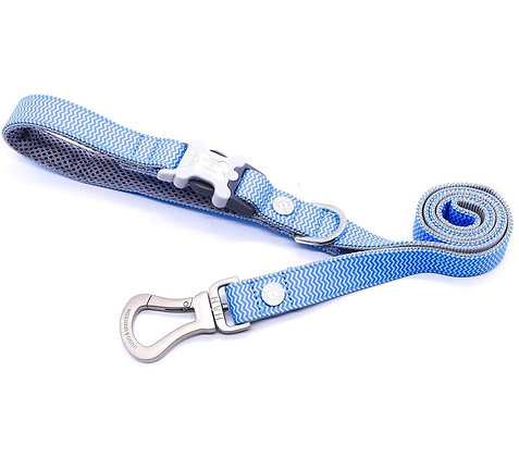 Hugo & Hudson Blue Chevron Leash XS/S or M/L