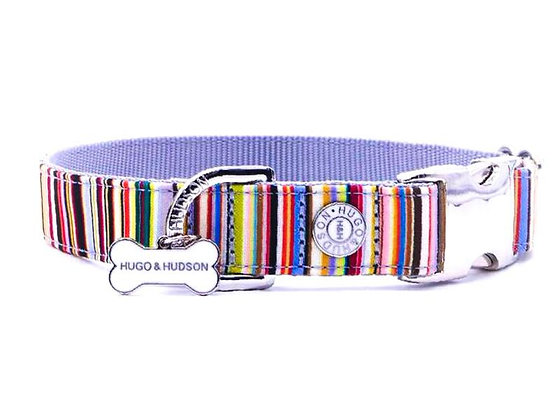 Hugo & Hudson Multi Coloured Stripe Collar XS-L
