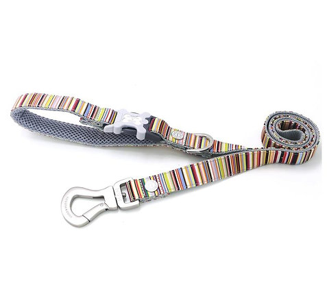 Hugo & Hudson Multi Coloured Stripe Leash XS/S or M/L