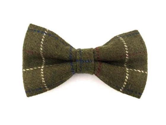 Hugo & Hudson Dark Green Check Bow Tie