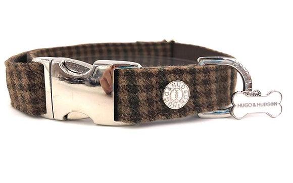 Hugo & Hudson Brown Checked Collar XS-L