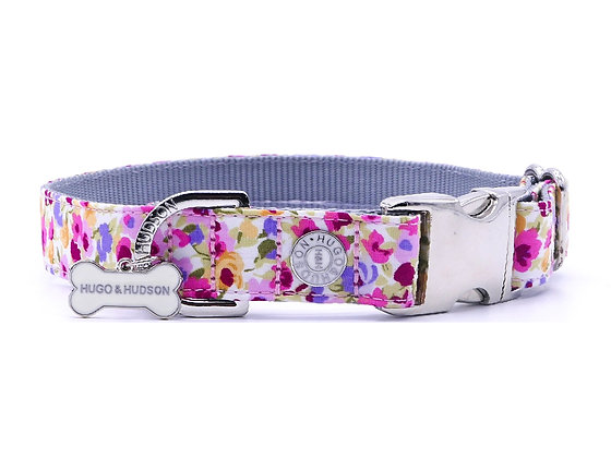 Hugo & Hudson Pink and Purple Floral Collar XS-L