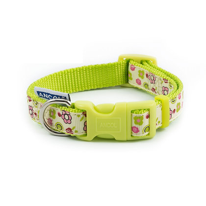Ancol Lime Flowers Collar 20-30cm Size 1-2