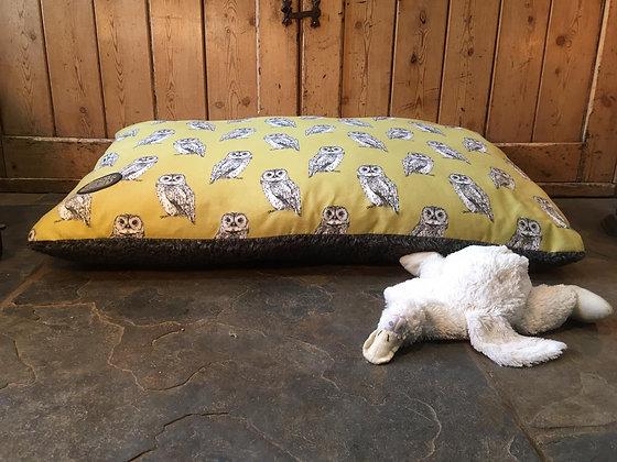 Snug & Cosy 90x60cm Owl Lounger Cushion