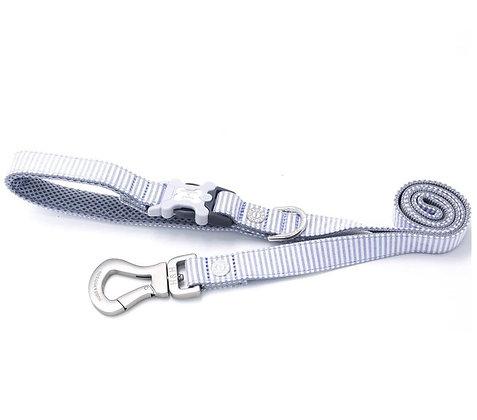 Hugo & Hudson Blue Oxford Stripe Leash XS/S or M/L
