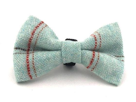 Hugo & Hudson Aqua Check Tweed Bow Tie