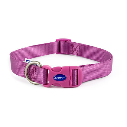 Ancol Nylon Adjustable Collar Purple 45-70cm Size 5-9