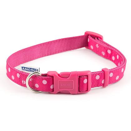 Ancol Vintage Polka Collar Pink 30-50cm Size 2-5