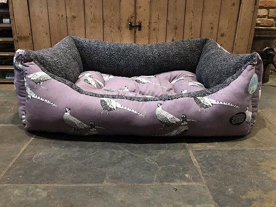 "Snug & Cosy 42"" - 107cm Large Dog Bed. Pheasant."