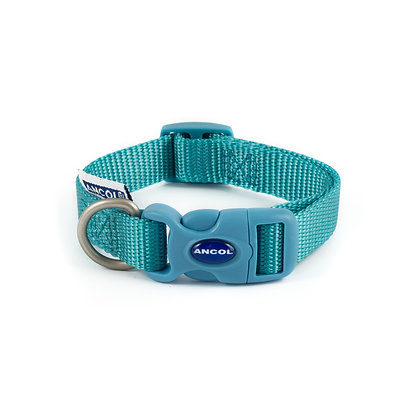 Ancol Nylon Adjustable Collar Teal 20-30cm Size 1-2