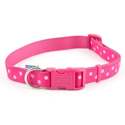 Ancol Vintage Polka Collar Pink 45-70cm Size 5-9