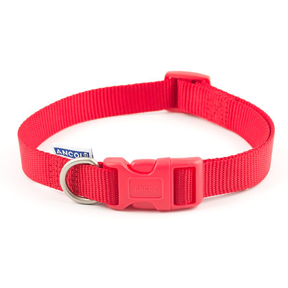 Ancol Viva Adjustable Collar Red 30-50cm Size 2-5