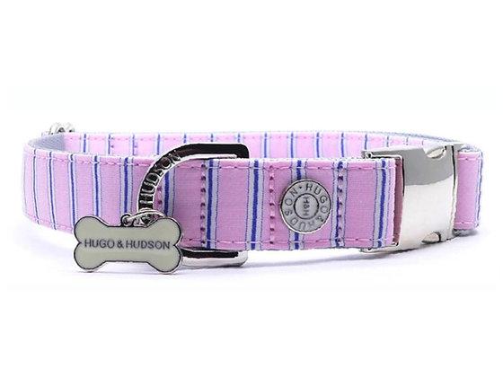 Hugo & Hudson Blue and Pink Stripe Collar XS-L