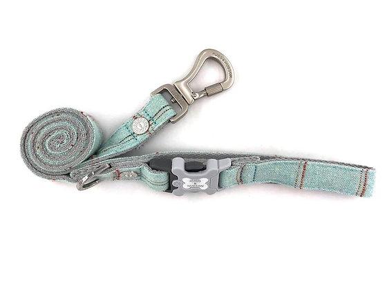 Hugo & Hudson Aqua Check Tweed Leash XS/S or M/L