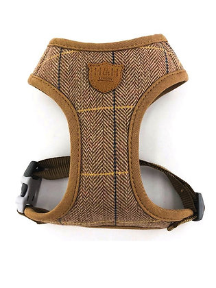 Hugo & Hudson Caramel Checked Herringbone Harness XS-L