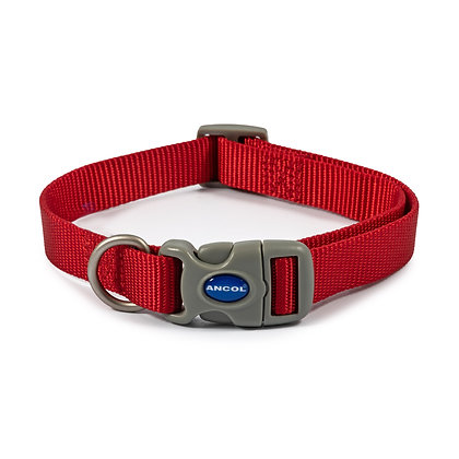 Ancol Viva Adjustable Collar Red 20-30cm Size 1-2