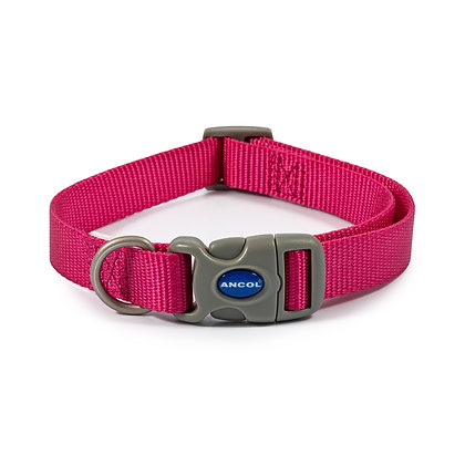 Ancol Viva Adjustable Collar Pink 30-50cm Size 2-5