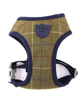 Hugo & Hudson Green Checked Tweed Harness XS-L