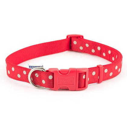 Ancol Vintage Polka Collar Red 45-70cm Size 5-9