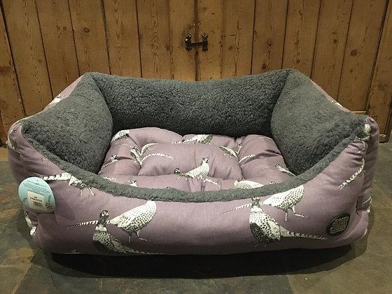 "Snug & Cosy 36"" - 92cm Large Dog Bed. Heather Pheasant"