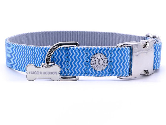 Hugo & Hudson Blue Chevron Collar XS-L