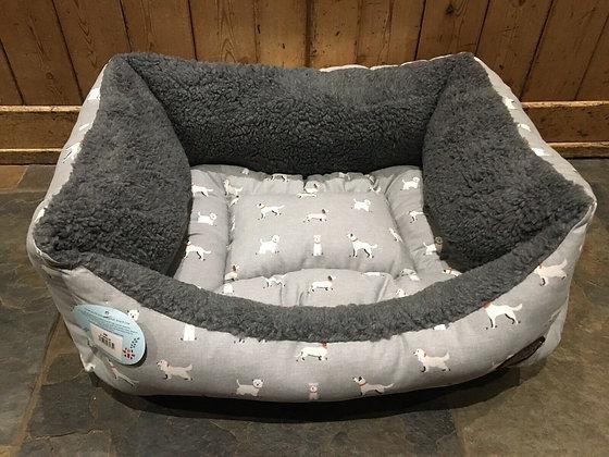 "Snug & Cosy 30"" - 76cm Medium Dog Bed. Grey Dogs"