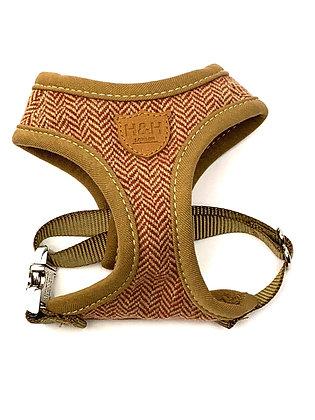 Hugo & Hudson Autumn Gold Tweed Harness XS-L