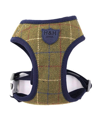 Hugo & Hudson Dark Green Checked Tweed Harness XS-L