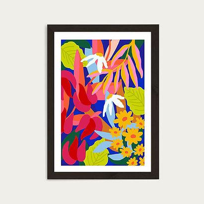 Heal_Your_Soul_Floral_Art_Print_Black_Fr