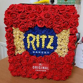 Artificial Funeral Flowers Tribute Ritz Biscuits .jpg