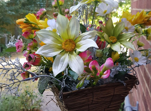 Beat The Heat by Using Silk Flowers in the Garden!