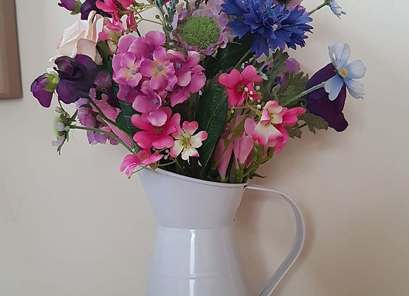 Arificial Floral Arrangement Cottage Garden Jug